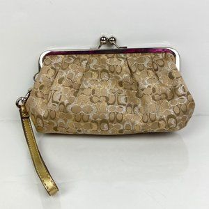 COACH | Optic Lurex Kisslock Wristlet 2007